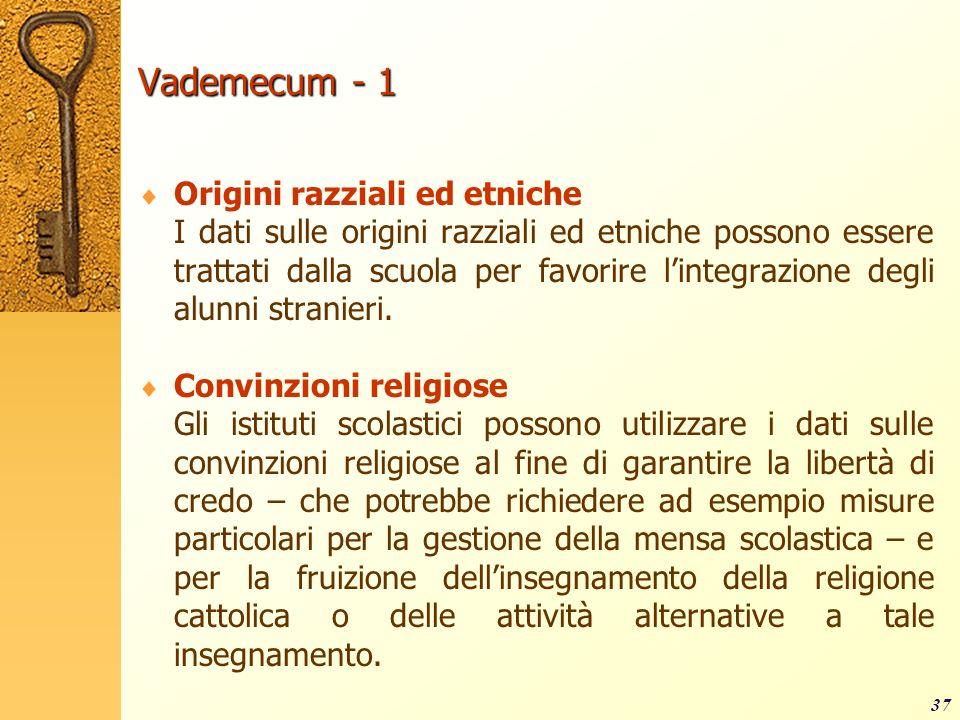 Vademecum - 1 Origini razziali ed etniche