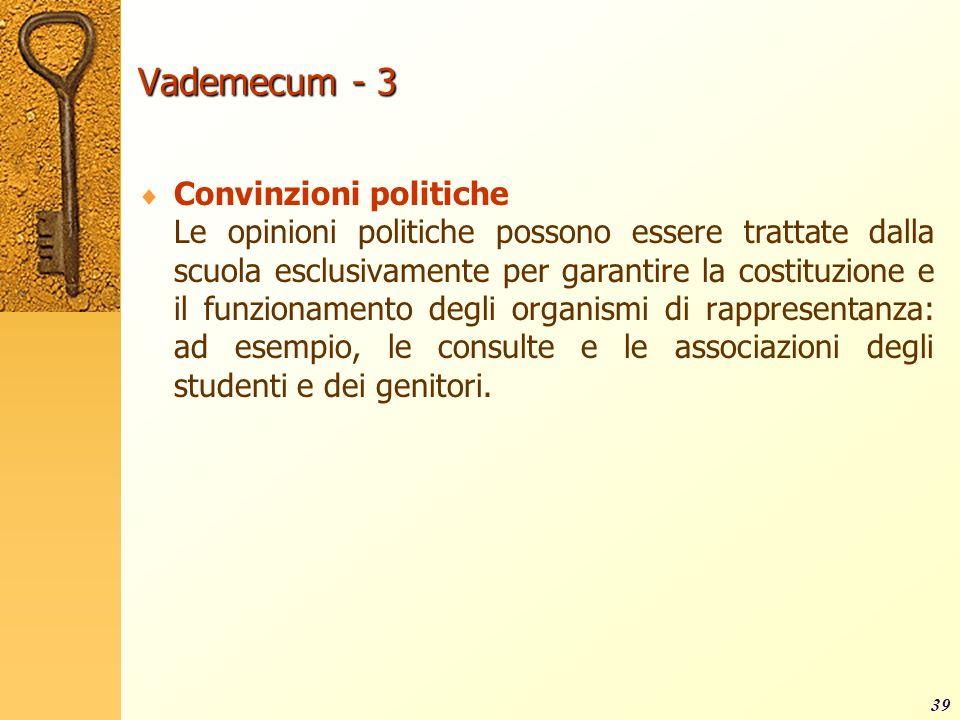Vademecum - 3 Convinzioni politiche