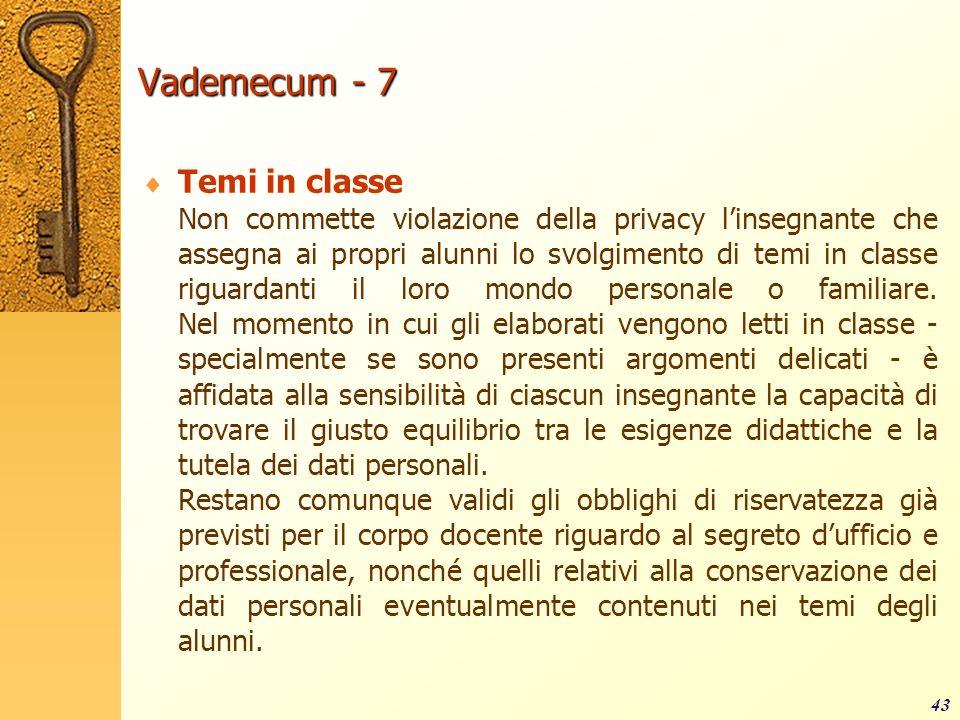 Vademecum - 7 Temi in classe