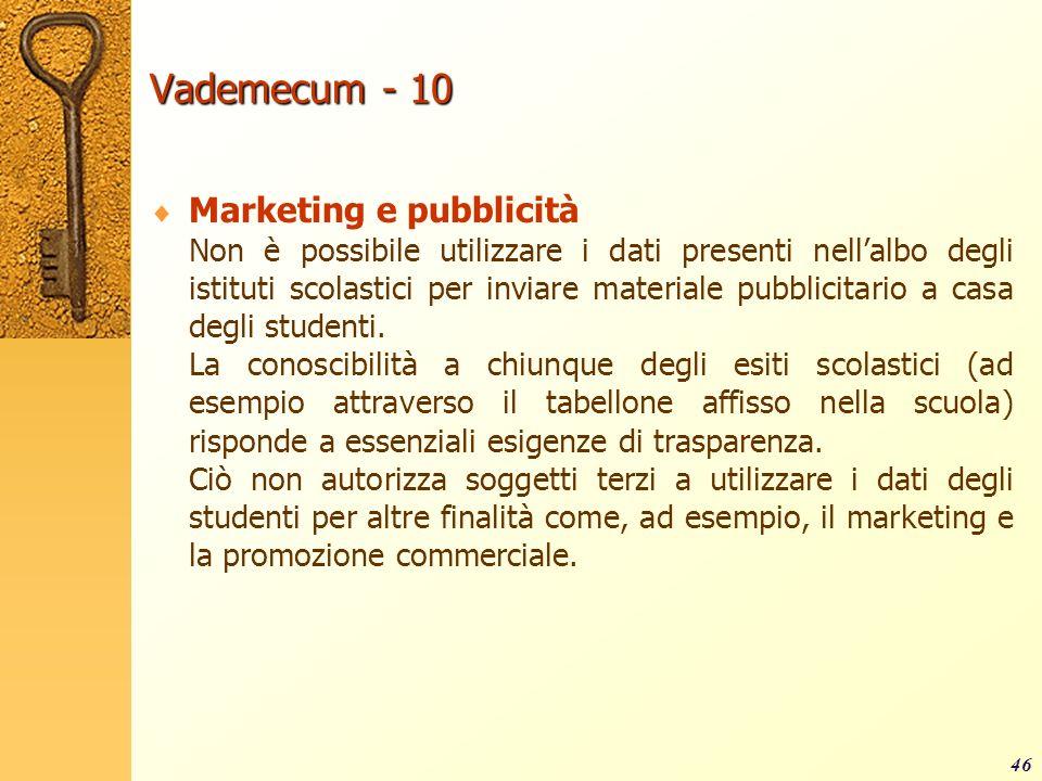 Vademecum - 10 Marketing e pubblicità