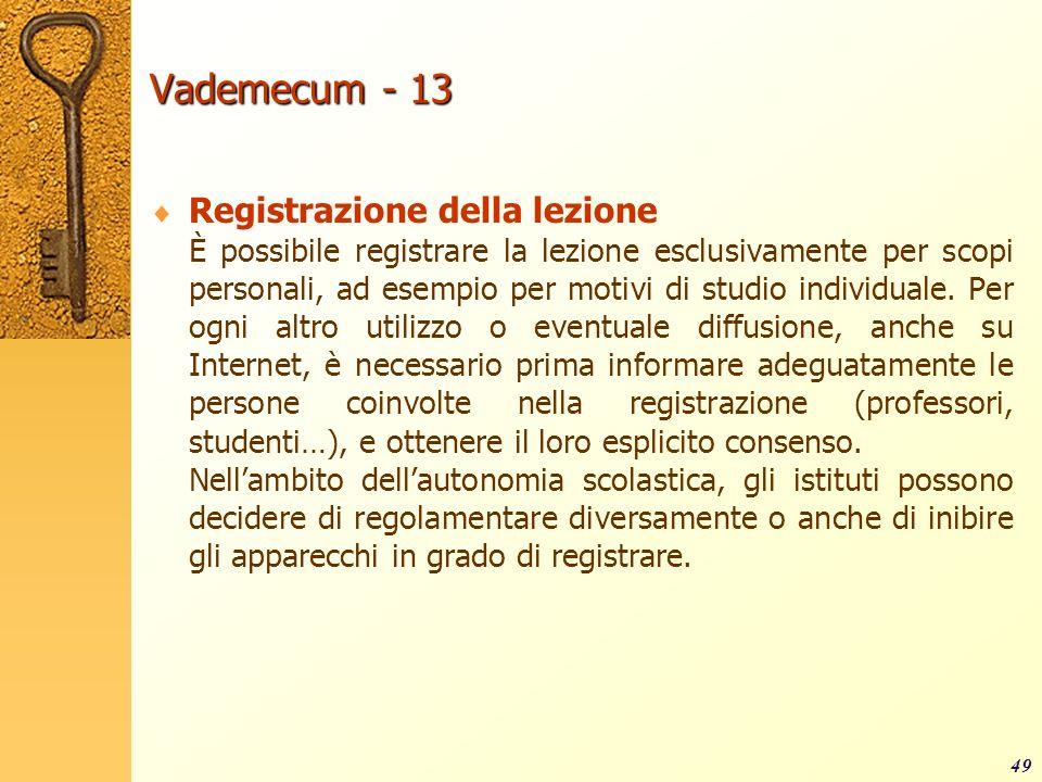 Vademecum - 13 Registrazione della lezione