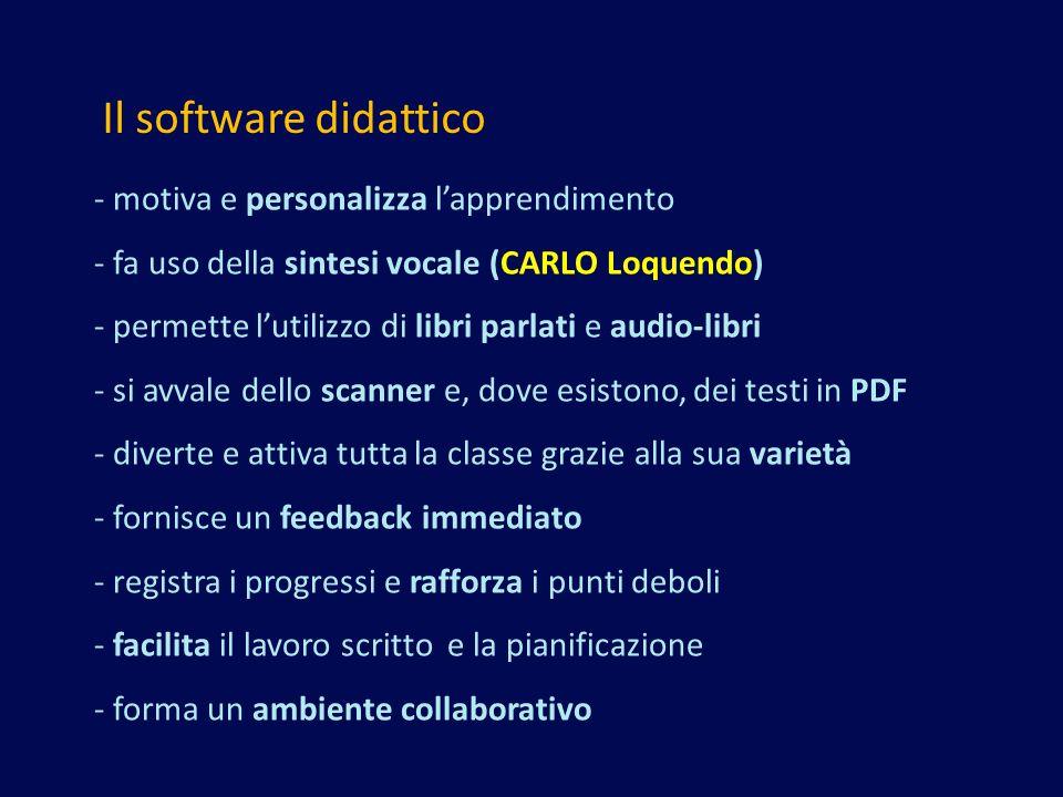 Il software didattico - motiva e personalizza l'apprendimento