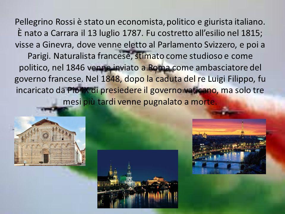 Pellegrino Rossi è stato un economista, politico e giurista italiano