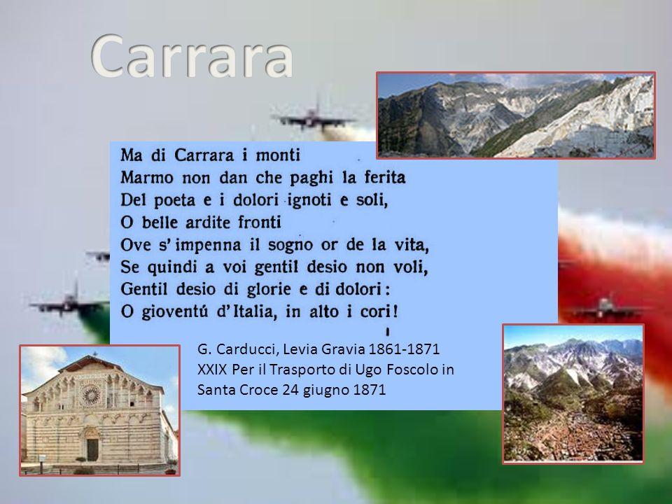 Carrara G. Carducci, Levia Gravia 1861-1871