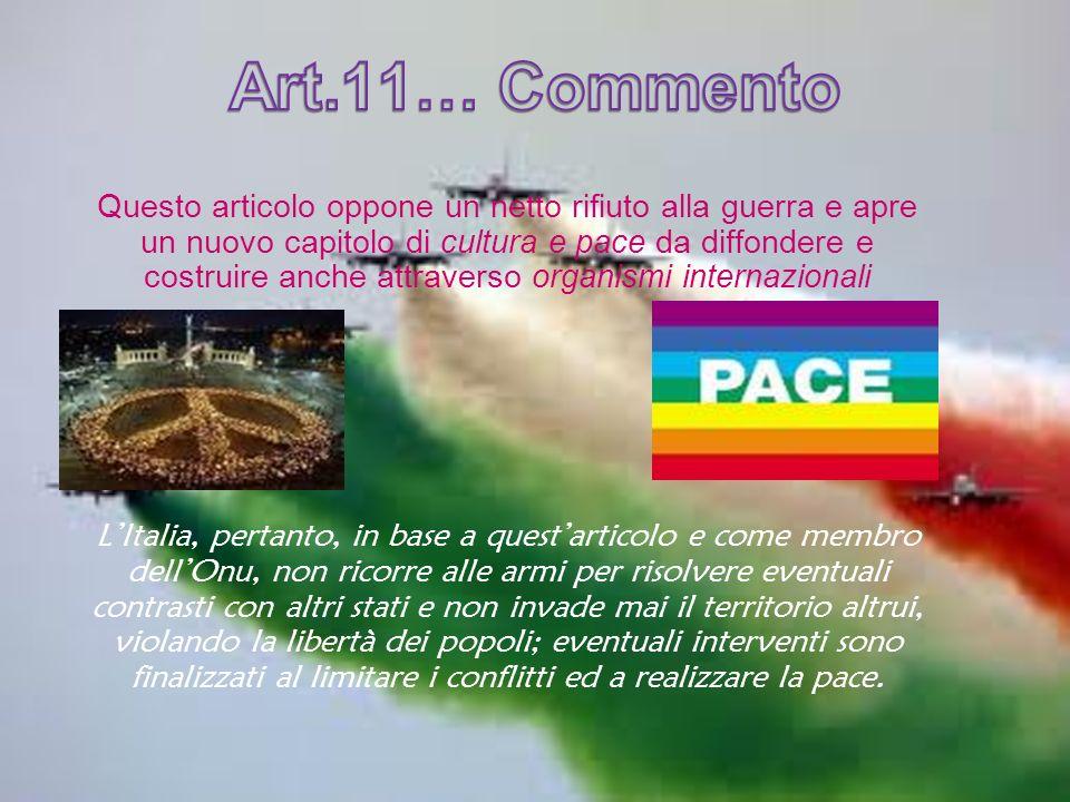 Art.11… Commento
