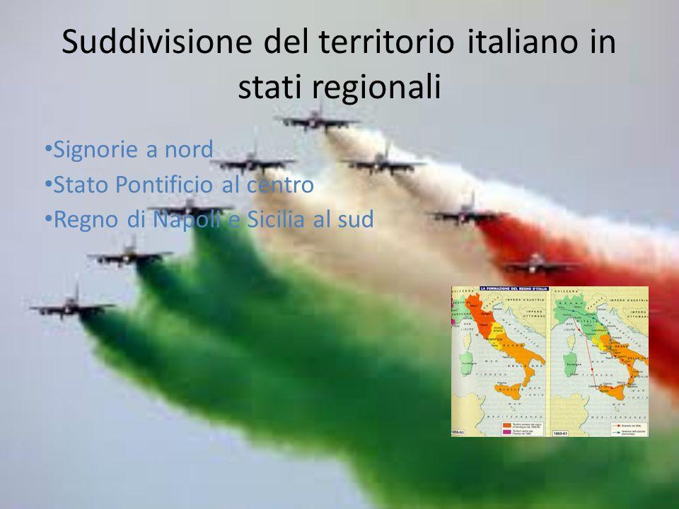 Suddivisione del territorio italiano in stati regionali