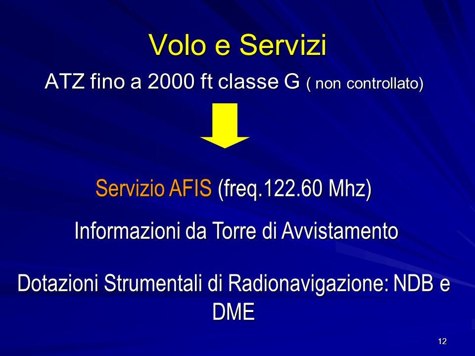 Volo e Servizi Servizio AFIS (freq.122.60 Mhz)