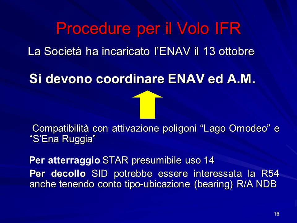 Procedure per il Volo IFR