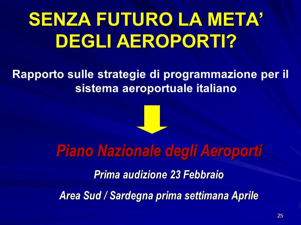 SENZA FUTURO LA META' DEGLI AEROPORTI