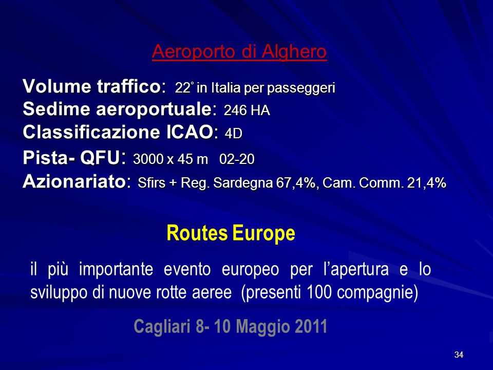 Routes Europe Aeroporto di Alghero
