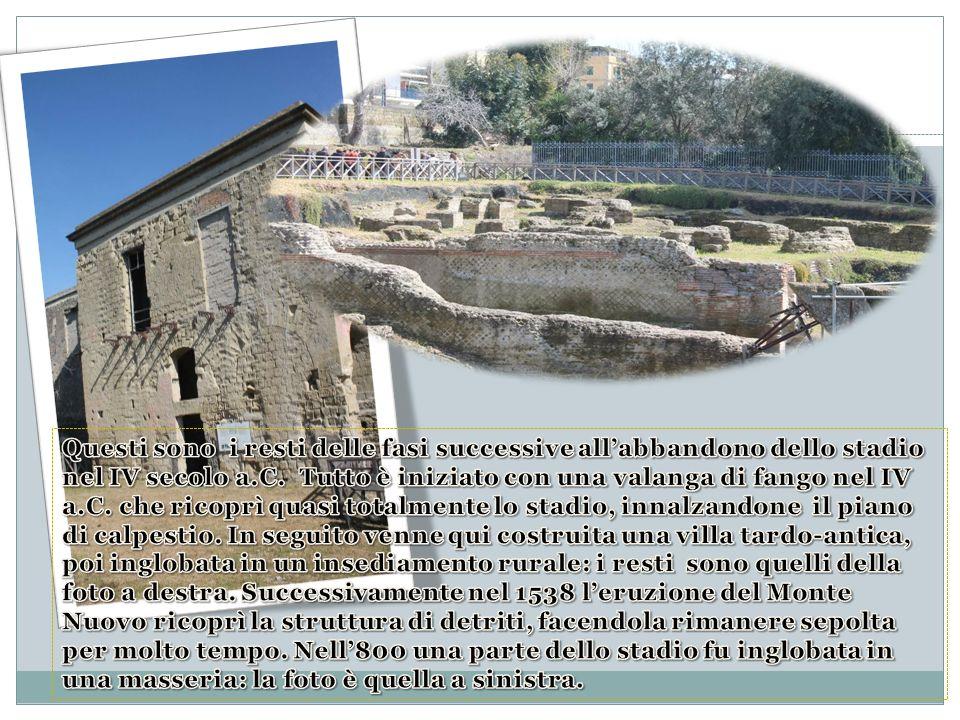 Questi sono i resti delle fasi successive all'abbandono dello stadio nel IV secolo a.C.