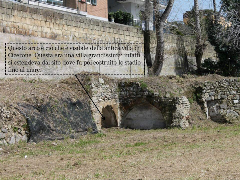 Questo arco è ciò che è visibile della antica villa di Cicerone