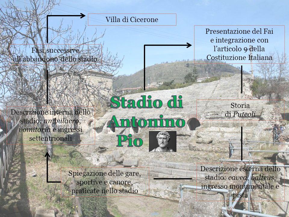 Stadio di Antonino Pio Villa di Cicerone Presentazione del Fai