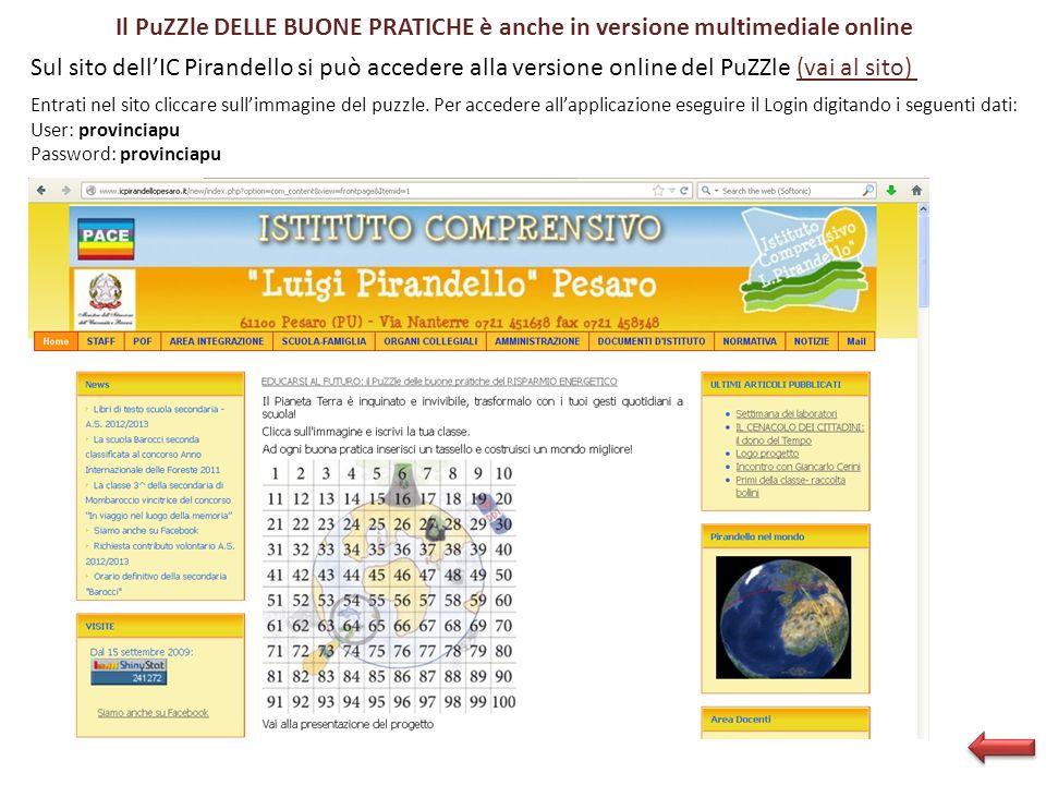 Il PuZZle DELLE BUONE PRATICHE è anche in versione multimediale online
