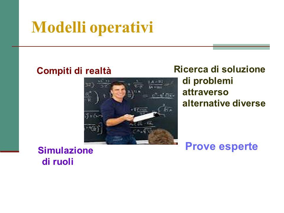 Modelli operativi Prove esperte Compiti di realtà