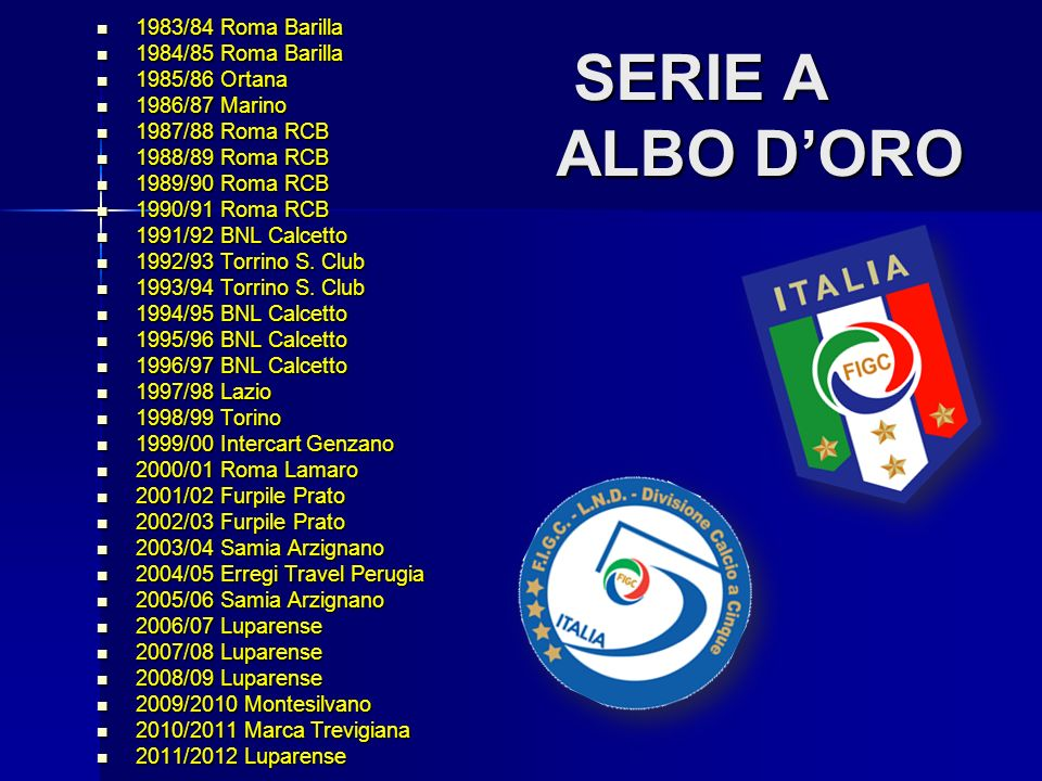 Watch online free campionati serie a albo d oro intitor mp3 for Serie a table 1984 85