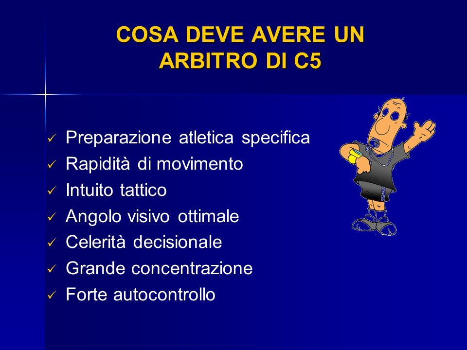 COSA DEVE AVERE UN ARBITRO DI C5