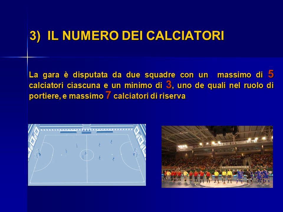 3) IL NUMERO DEI CALCIATORI
