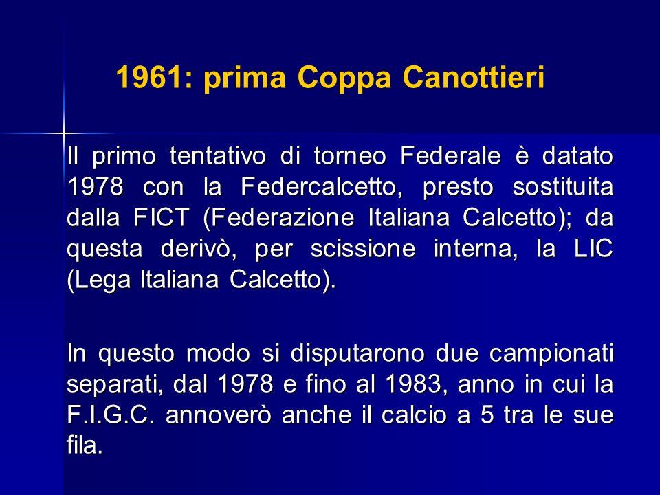 1961: prima Coppa Canottieri