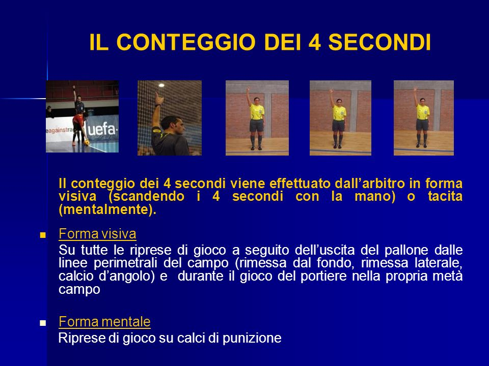 IL CONTEGGIO DEI 4 SECONDI