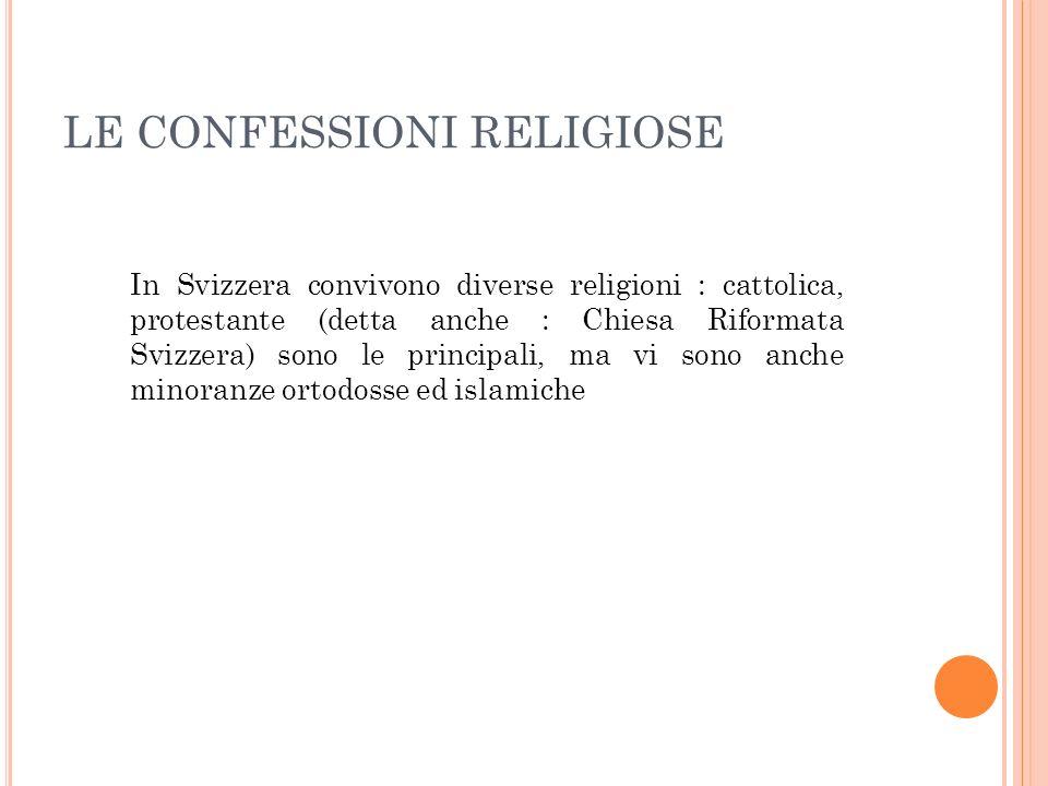 LE CONFESSIONI RELIGIOSE