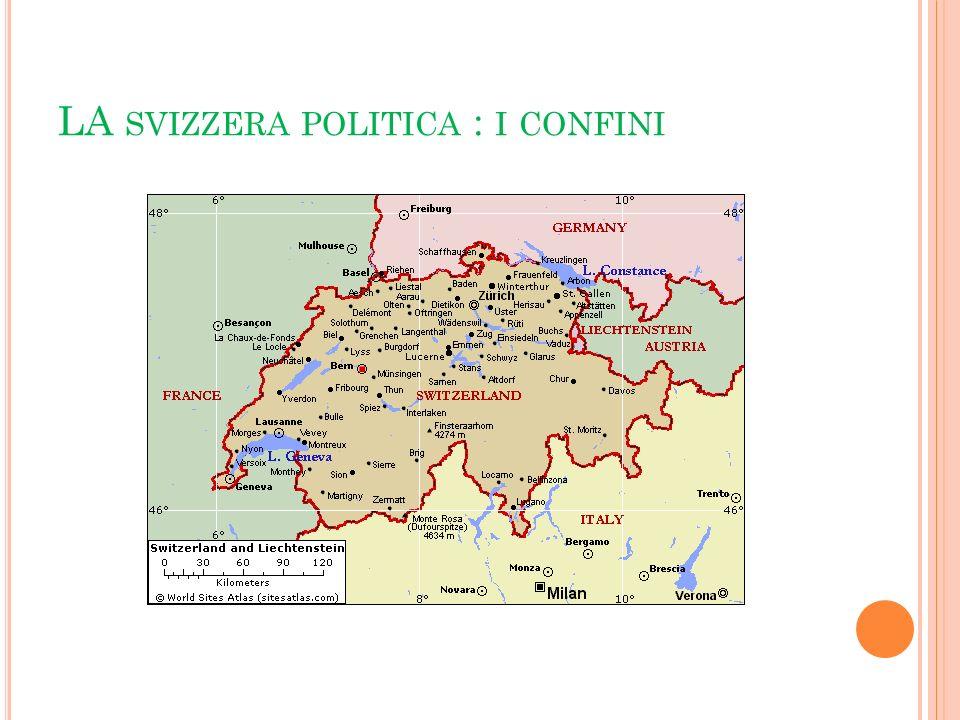 LA svizzera politica : i confini