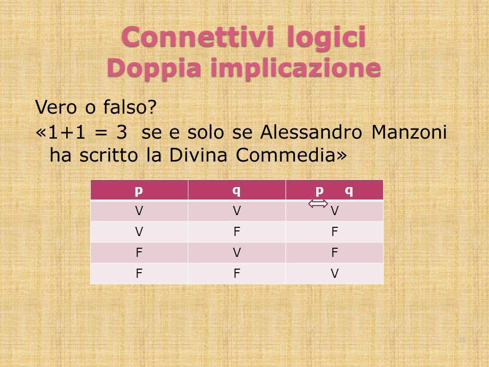 Connettivi logici Doppia implicazione