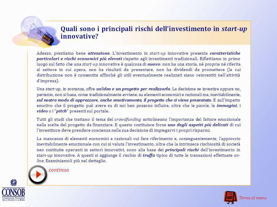 Quali sono i principali rischi dell'investimento in start-up innovative