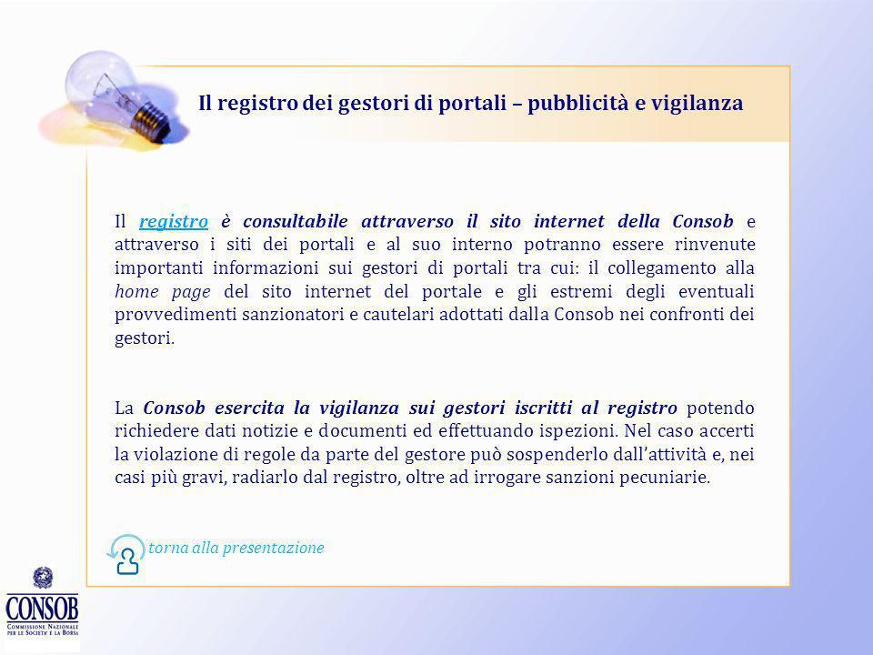 Il registro dei gestori di portali – pubblicità e vigilanza