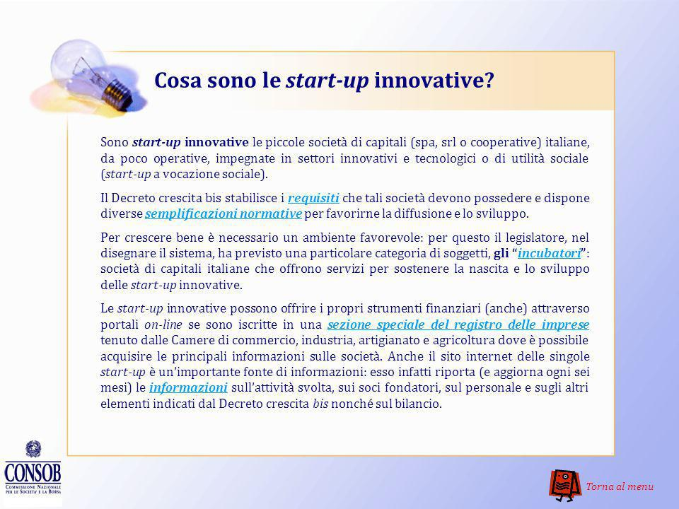Cosa sono le start-up innovative