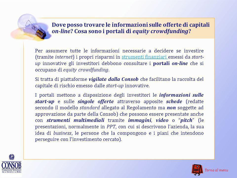 Dove posso trovare le informazioni sulle offerte di capitali on-line