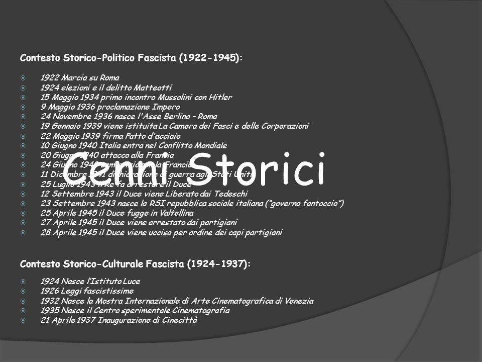 Cenni Storici Contesto Storico-Politico Fascista (1922-1945):
