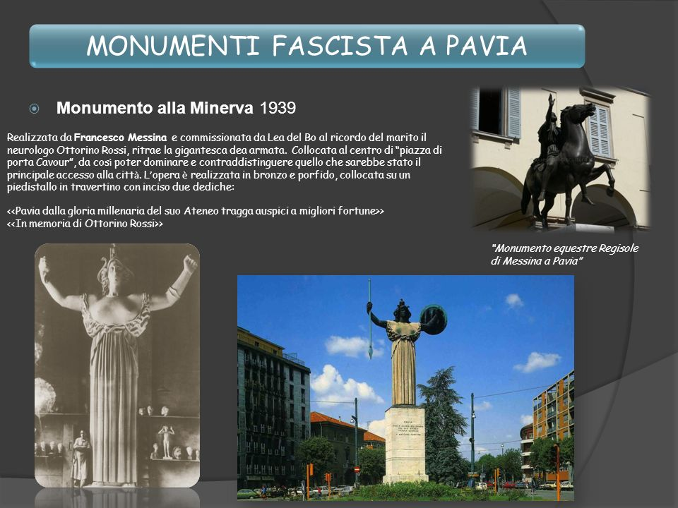 MONUMENTI FASCISTA A PAVIA