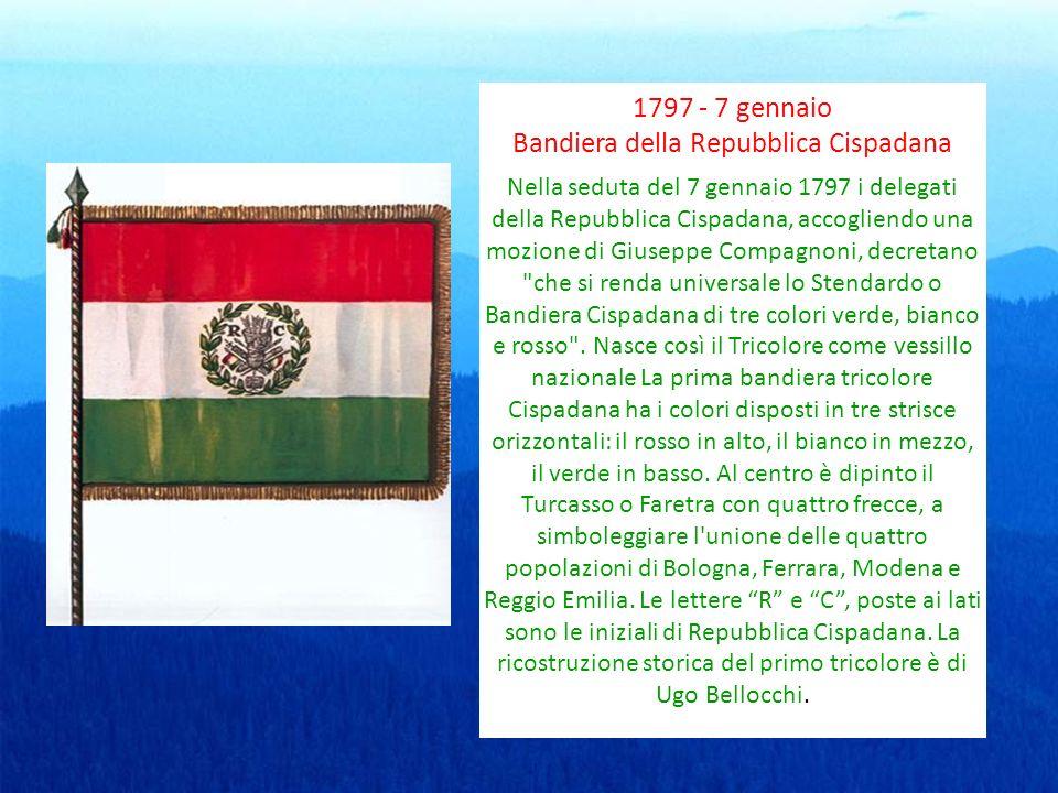 1797 - 7 gennaio Bandiera della Repubblica Cispadana