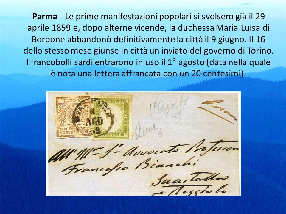 Parma - Le prime manifestazioni popolari si svolsero già il 29