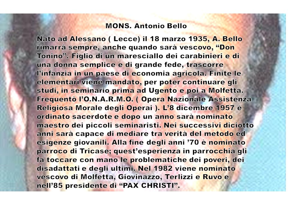 MONS. Antonio Bello