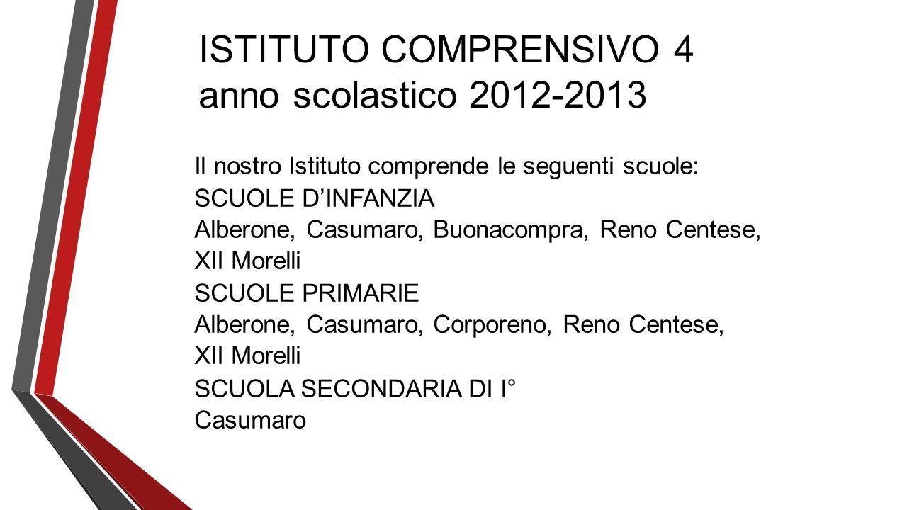 ISTITUTO COMPRENSIVO 4 anno scolastico 2012-2013