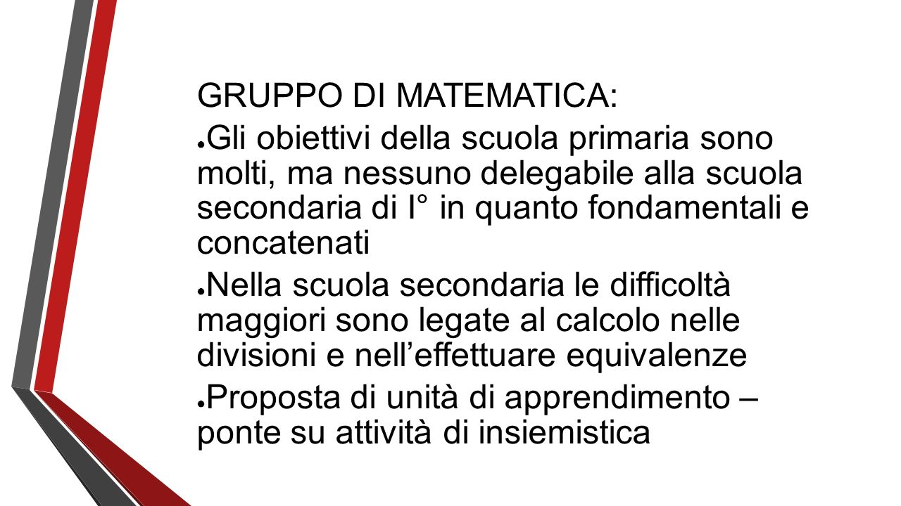GRUPPO DI MATEMATICA: