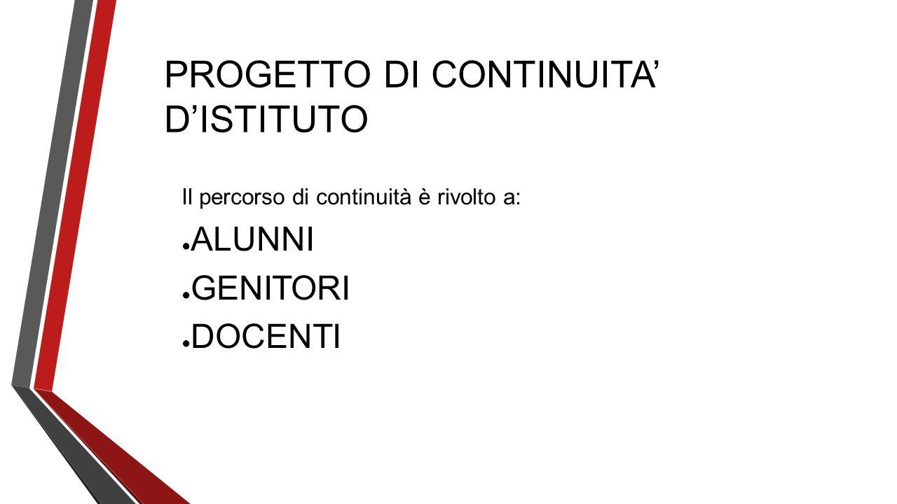 PROGETTO DI CONTINUITA' D'ISTITUTO
