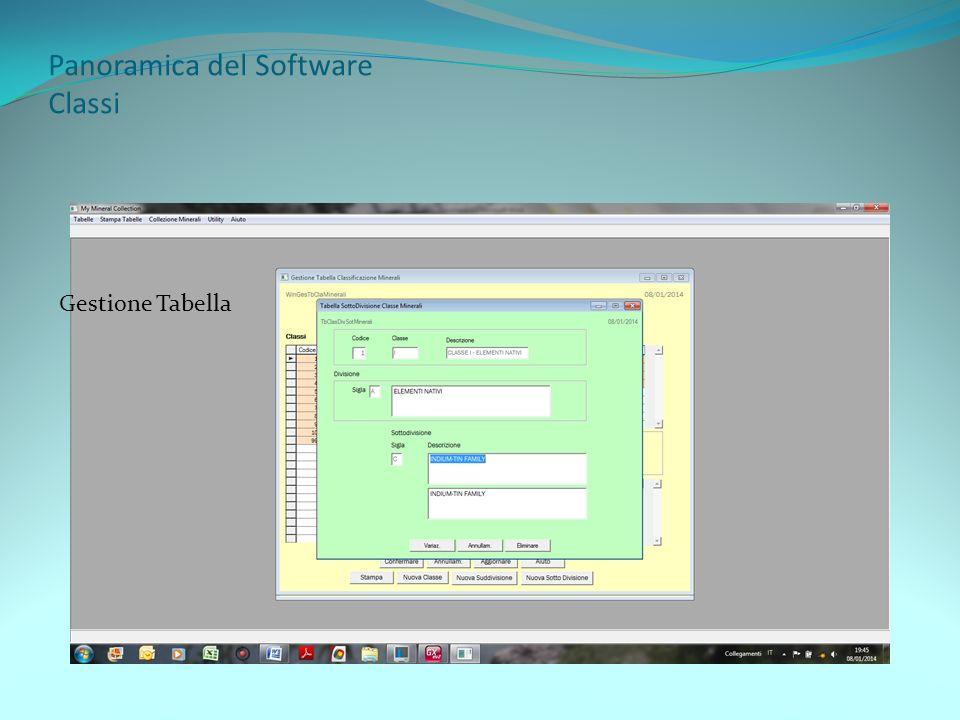 Panoramica del Software Classi