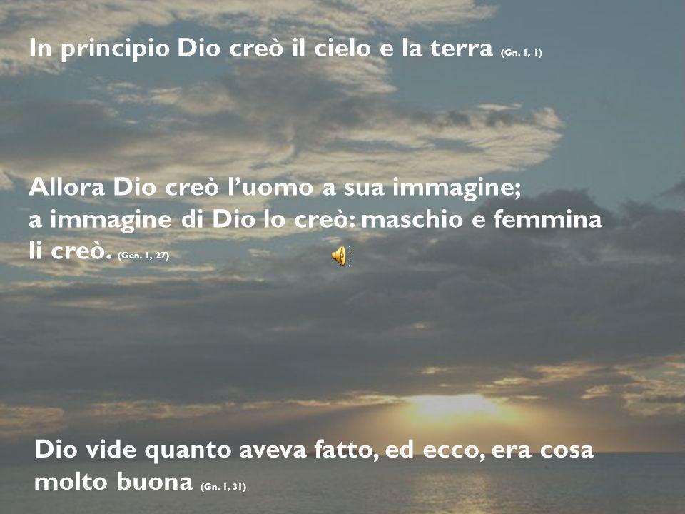 In principio Dio creò il cielo e la terra (Gn. 1, 1)