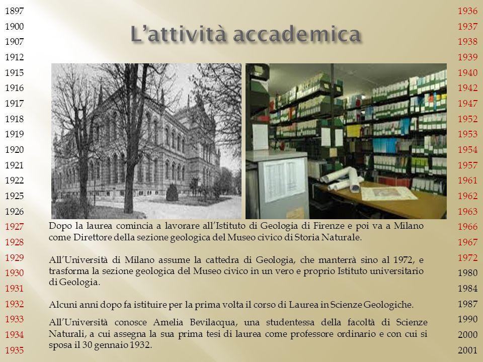 L'attività accademica
