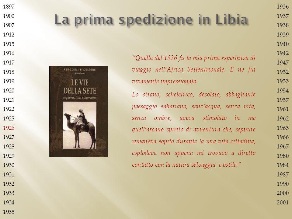 La prima spedizione in Libia