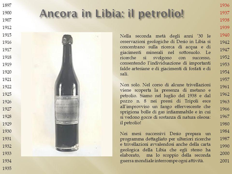 Ancora in Libia: il petrolio!