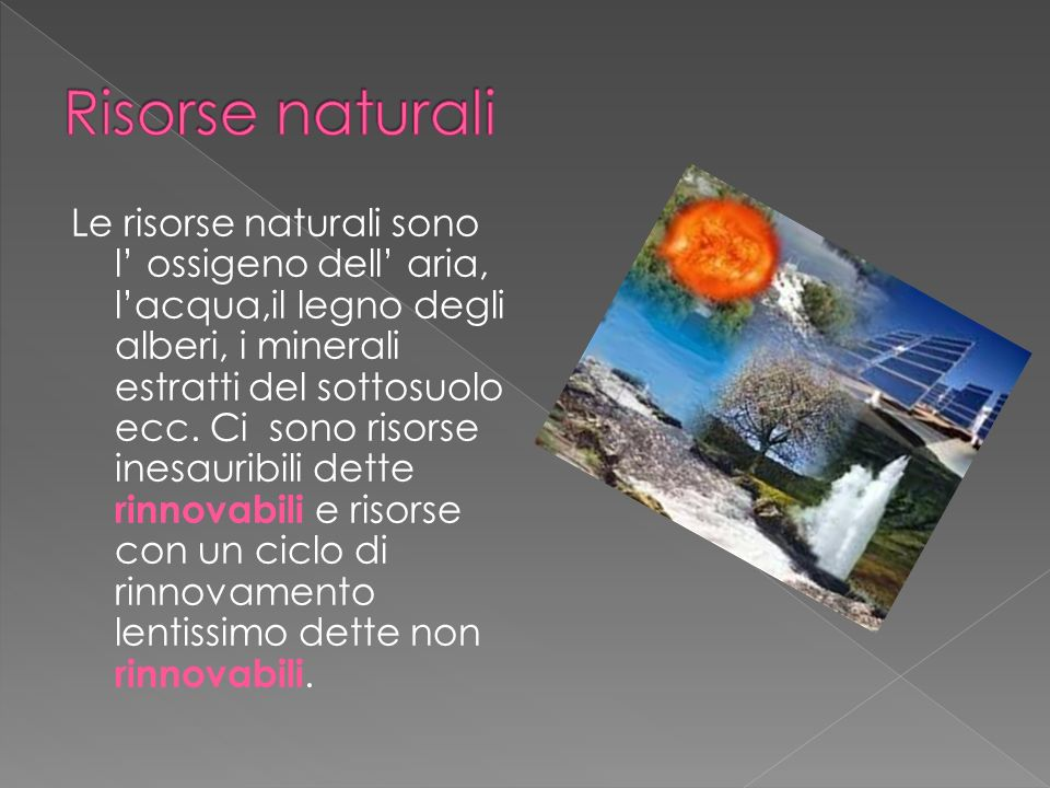 Risorse naturali