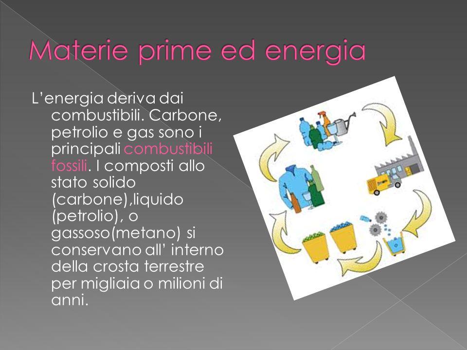 Materie prime ed energia