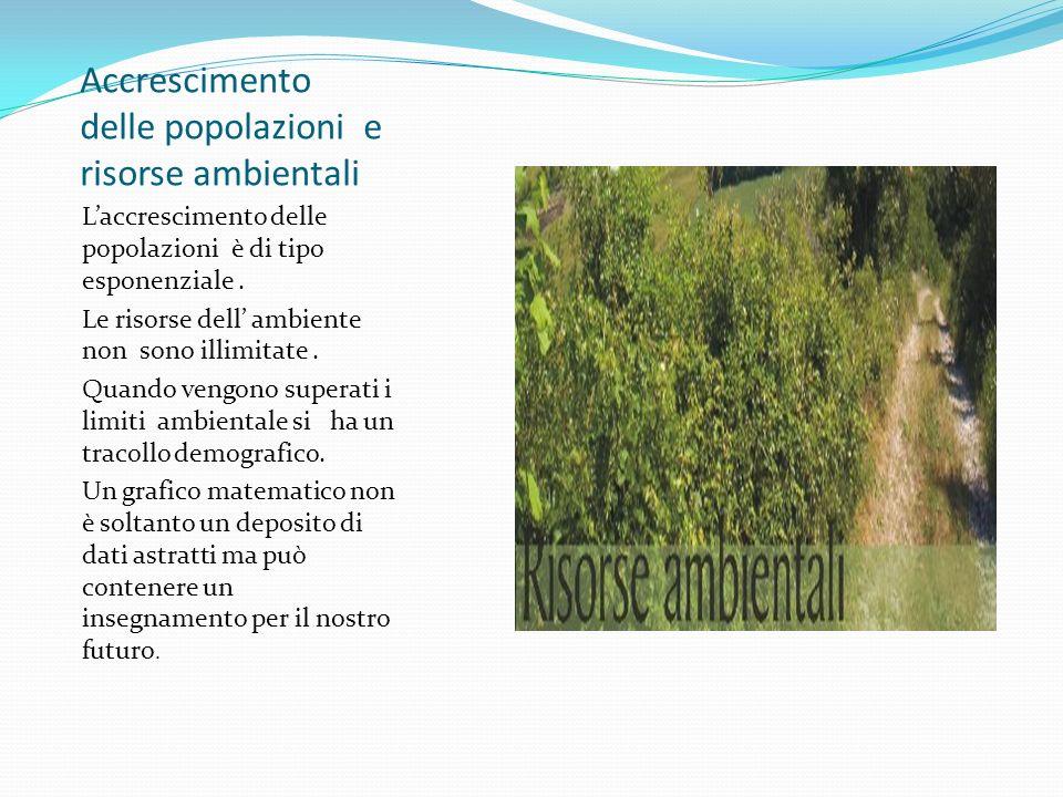 Accrescimento delle popolazioni e risorse ambientali