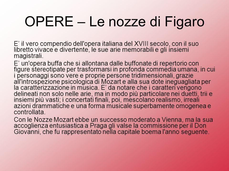 OPERE – Le nozze di Figaro