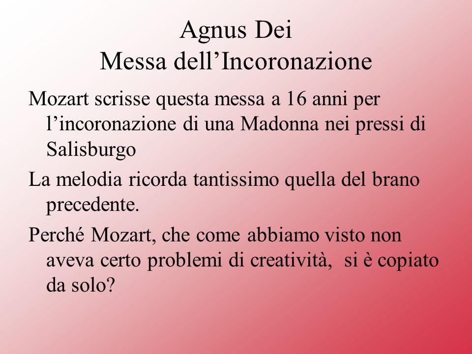 Agnus Dei Messa dell'Incoronazione