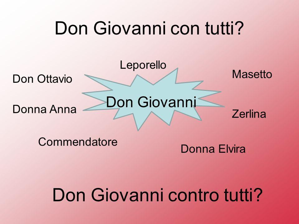 Don Giovanni contro tutti